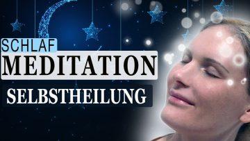 Meditation: Meditation 'Selbstheilung im Schlaf' mit Affirmationen & heilenden Frequenzen 7Hz + 417Hz! Mit Nina Beste