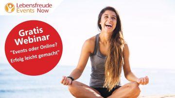 """Gratis Webinar – """"Events oder Online? – Erfolg leicht gemacht""""  mit Britta Gerdes-Petersen"""